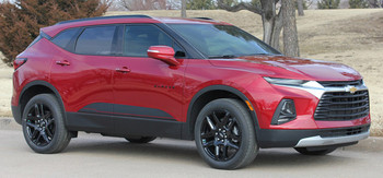 Front angle view of BLAZE ROCKER | 2019-2020 Chevy Blazer Stripes