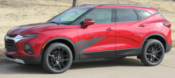 Side view of SIDEKICK | 2019-2021 Chevy Blazer Door Stripes Decals Graphics