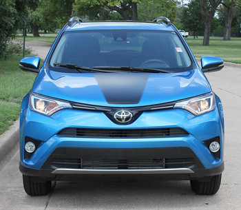 Front View of RAVAGE HOOD | 2018 Toyota Rav4 Hood Stripes 2016 2017 2018