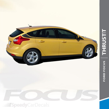 THRUST : 2012-2017 Ford Focus Side Door Body Vinyl Graphics Stripes Decals Kit