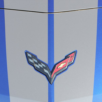 Close up View of Chevy Corvette C7 - Chevy Corvette Racing Stripes 2014-2019