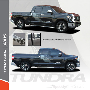 AXIS | Toyota Tundra Side Door Decals Body Vinyl Graphics Stripe Kit 2015-2021 Premium and Supreme Install