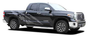 FRENZY | Toyota Tundra Side Body Vinyl Graphics Splash Design Decal Stripes Kit 2015-2021 Premium Auto Striping