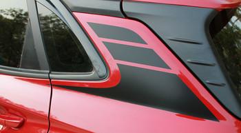 Profile of  red Hyundai Kona Stripes SPIRE KIT 2020-2021