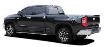 Side View of 2018 Toyota Tundra Side Stripe Kits BURST 2015-2021 Premium Vinyl Graphics