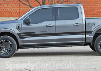 2021 Ford F150 Side Door Stripes Decals SWAY Premium Auto Striping
