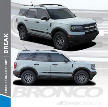 2021 Ford Bronco Side Stripes BREAK 3M Premium Auto Striping