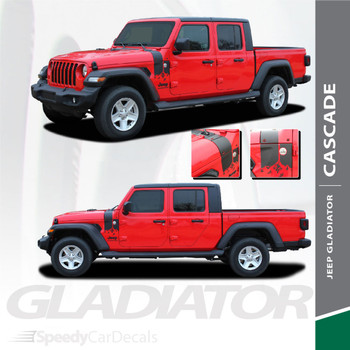 CASCADE : Jeep Gladiator Side Decals Vinyl Graphics Stripe Kit for 2020-2021