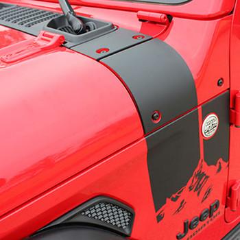 2020-2021 Jeep Gladiator & 2018-2021 Wrangler Hood Decals CASCADE
