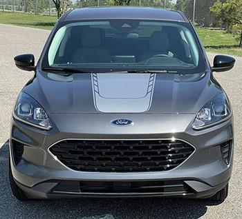 2020 2021 Ford Escape Hood Stripes Decals EVADE HOOD Vinyl Graphics