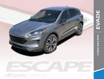 2020 2021 Ford Escape Side Door Stripes Decals EVADE SIDE Vinyl Graphics
