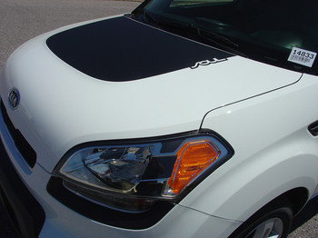 SOULPATCH Hood & Sides Graphics | 2010-2011 & 2014-2019 Kia Soul Stripes 3M Wet Install and Avery Dry