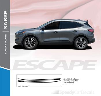 2020 2021 Ford Escape Upper Side Stripes Graphics SABRE SIDE Vinyl Decals