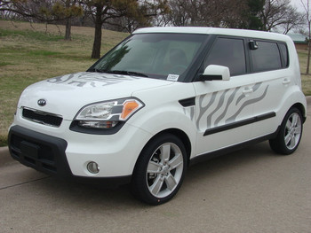 SOULCAT Kia Soul Decals Stripe Vinyl Graphics Kits | 2010-2013 Wet Install and Dry Install