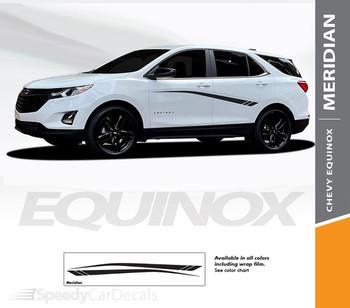 Details for Chevy Equinox Door Stripes Decals MERIDIAN Vinyl Graphic Kits 2018-2022 Premium Auto Vinyl Decals