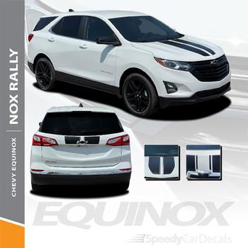 Details for Chevy Equinox Racing Stripes Decals NOX RALLY Vinyl Graphic Kits 2018-2022 Premium Auto Vinyl Decals