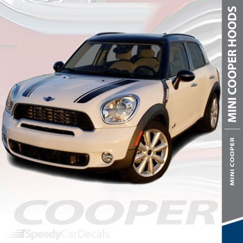 S-TYPE HOOD | Hood Racing Stripes for Mini Cooper 2010-2018 3M Wet Install and Avery Dry Install