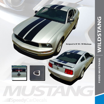 WILDSTANG 05 : 2005-2009 Ford Mustang Lemans Style Vinyl Racing Stripes Kit