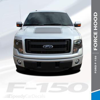 "FORCE HOOD DIGITAL : 2009-2014 Ford F-150 Hood ""Appearance Package Style"" Vinyl Graphic Screen Print Decal Kit"