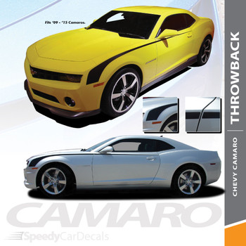THROWBACK | Side Hockey Stripe Camaro Chevy Decals 2010-2015 Wet and Dry Install Vinyl
