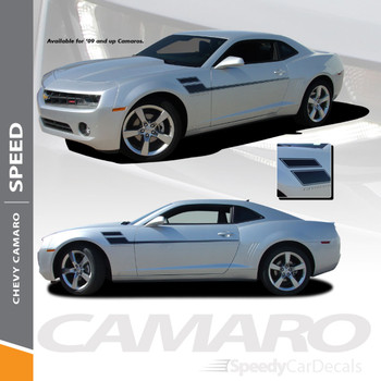 SPEED Side Graphic Decal Stripe Chevy 2015-2010 Camaro Racing Stripes Wet and Dry Install Vinyl