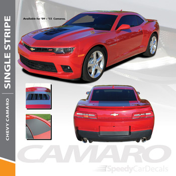 SINGLE STRIPE : 2010-2013 Chevy Camaro Factory OEM Style Wide Hood Striping Trunk Rally Stripe Decal Kit