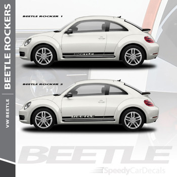 VW Beetle Side Stripes ROCKER 2 Vinyl Graphics Rocker Panel Decals 2012-2018 | 3M Wet Install and Dry Install
