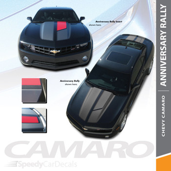 R-SPORT ANNIVERSARY : 2010-2015 Chevy Camaro 45th Anniversary Style Hood Rally Racing Stripes Trunk Vinyl Graphics Decals Kit