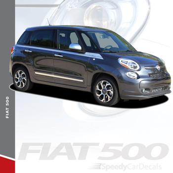 SIDEKICK : 2014-2019 Fiat 500L Abarth Upper Side Door Accent Vinyl Graphics Stripes Decals Kit