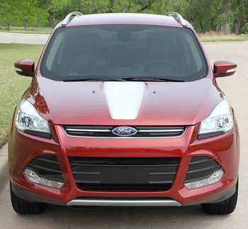 CAPTURE : 2013-2019 Ford Escape Center Hood Vinyl Graphics Decal Stripe Kit