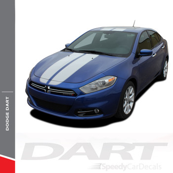 SPRINT RALLY : 2013-2016 Dodge Dart Hood Roof Deck Lid Racing Stripes Vinyl Graphic Decals Kit