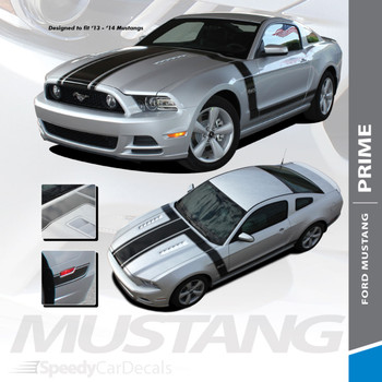 PRIME 1 : 2013-2014 Ford Mustang BOSS 302 Style Door Fender Hood Vinyl Graphics Decal Stripe Kit