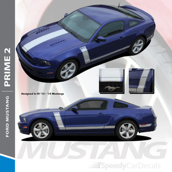 PRIME 2 : 2013-2014 Ford Mustang BOSS 302 Style Vinyl Graphics Striping Decal Kit