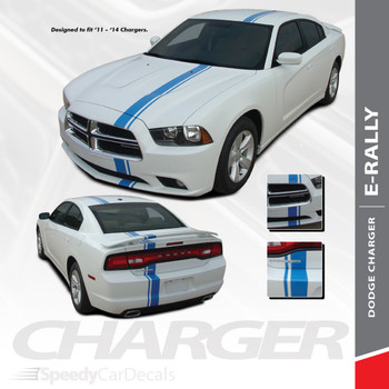 EURO RALLY : 2011-2014 Dodge Charger E-Rally Offset Vinyl Graphics Racing Stripe Decal Kit