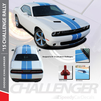 RALLY 15 : 2015-2018 2019 Dodge Challenger Factory OEM Style Vinyl Graphic Racing Rally Decal Stripe Kit