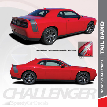 TAILBAND : 2011-2018 2019 Dodge Challenger Factory OEM Scat Pack Style Rear Quarter Panel Trunk Vinyl Rally Stripes