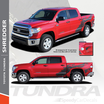SHREDDER | Toyota Tundra Graphics Decals Stripes 2014-2021 Premium and Supreme Install
