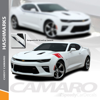 Chevy Camaro Fender HASH MARKS Vinyl Decal Stripe Graphic Kit Wet and Dry Install Vinyl