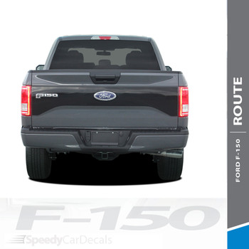 ROUTE TAILGATE : 2015-2017 Ford F-150 Tailgate Blackout Vinyl Graphic Decal Stripe Kit