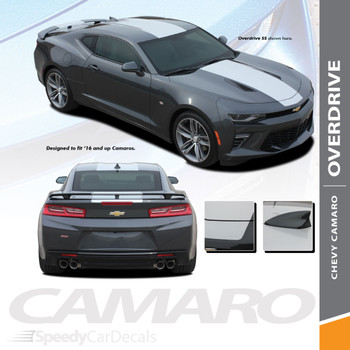 Camaro SS Stripes Chevy OVERDRIVE Rally Decals Vinyl Graphics 2016-2018 Wet and Dry Install