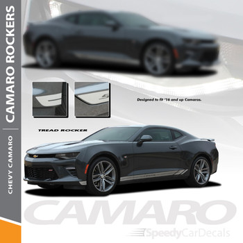 Camaro Graphics TREAD ROCKER 2016-2018 Lower Decals Vinyl Stripe Kit Wet and Dry Install