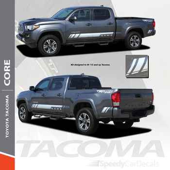 CORE   Toyota Tacoma Side Graphic Stripe Decal 3M 2015-2018 Wet & Dry Install