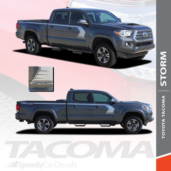 STORM   Toyota Tacoma Side Stripe Graphics Kit 3M 2015-2018 Wet and Dry Install