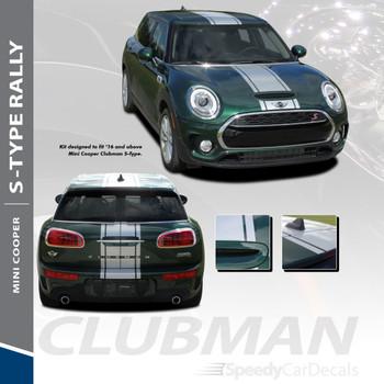 CLUBMAN S-TYPE RALLY : 2016-2018 Mini Cooper Rally Hood Stripes Vinyl Graphics Kit
