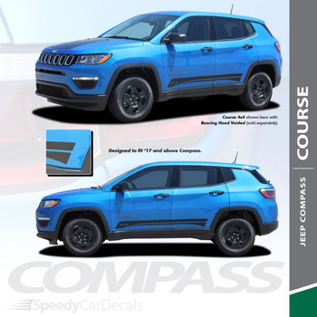 COURSE ROCKER | Jeep Compass Graphic Decals 2017-2020 Wet and Dry Install Vinyl