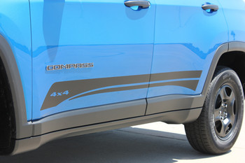 Jeep Compass Rocker Stripe Decals 3M COURSE ROCKER 2017-2020 Premium and Supreme Install Vinyl