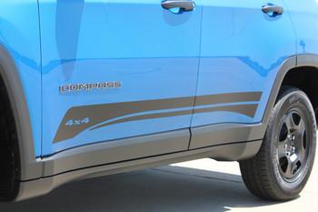Jeep Compass Rocker Stripe Decals 3M COURSE ROCKER 2017-2020 2021 Premium Auto Striping Vinyl