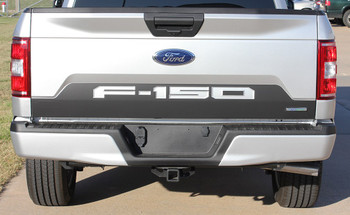 SPEEDWAY TAILGATE BLACKOUT : 2018 Ford F-150 Rear Tailgate Vinyl Graphics Decals Kit