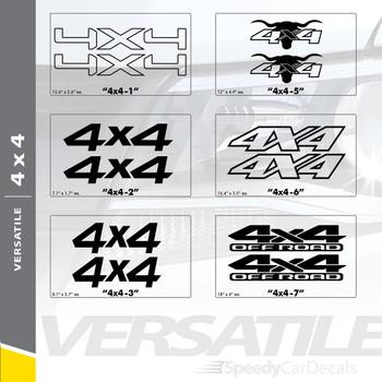 VERSATILE 4X4: Universal Style Vinyl Graphics Kit