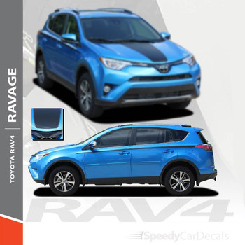 RAVAGE SIDES | Toyota RAV4 Side Stripe 3M 2016-2019 Wet and Dry Install